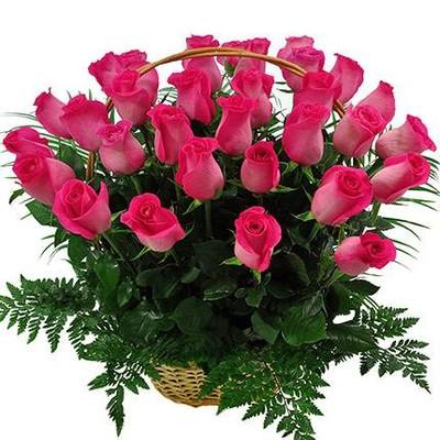 """Корзина """" Розовые розы"""""""